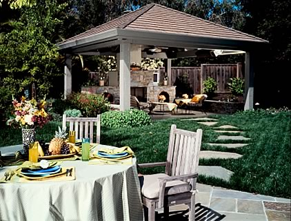 how to put a chimena under your pergola