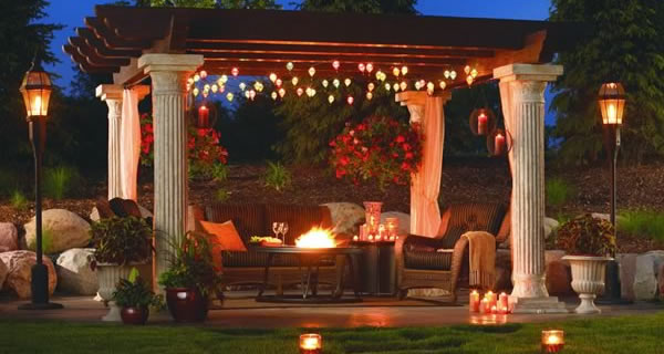 Outdoor Rooms & Kitchens Ideas and Pictures | Gardecor - Outdoor Pergola Lights