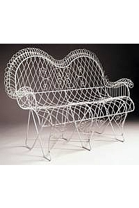 French Style Wire Settee, Iron