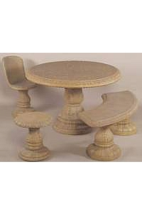 Patio Dining Table and Seats with Acanthus Motif