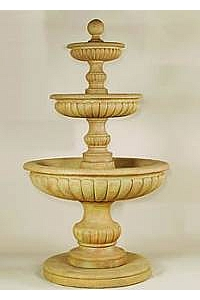 Acqua Sparta 3-Tier Outdoor Concrete Water Fountain