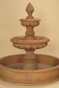 Amelia 2-Tier Pond Outdoor Concrete Water Fountain