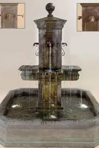 Anduze Carré Pond Fountain for Spouts