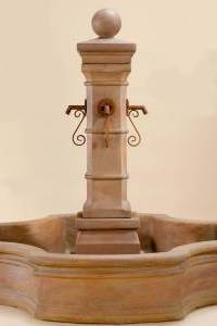 Avignon Monaco Pond Fountain for Rustic Spouts