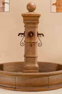 Avignon Pond Fountain for Rustic Iron Spouts