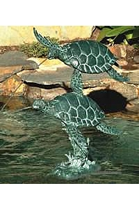 Sea Turtle Water Fountain Spitter