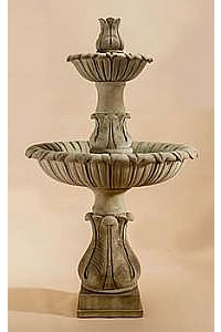 Calanthia Two-Tier Water Fountain with Acanthus Finial
