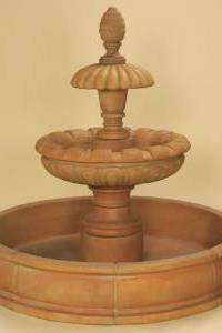 Caroline 2-Tier Pond Water Fountain