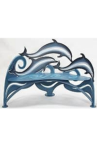Magnificent Jumping Dolphins Bench