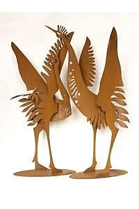 Crane Bird Sculptures Statue
