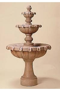 Chateau 3-Tier Outdoor Concrete Water Fountain