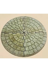 Circular Cobblestone Foundation for Garden Decor