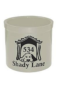 Dog House Personalized Crock
