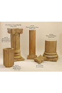 Fluted Outdoor Pedestals and Columns