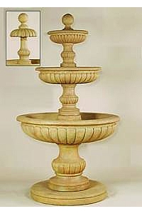 Fontanone 3-Tier Outdoor Concrete Water Fountain