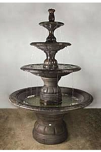 Barrington Designer Collection 4-Tiered Outdoor Water Fountain