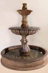 Grandis Calanthia Two-Tier Pond Water Fountain