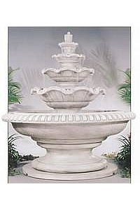 Palace Quattro Tiered Courtyard Concrete Fountain