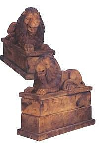 Royal Reclining Lions Statue