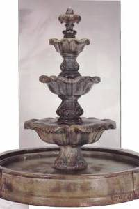 3-Tier Valencia Renaissance Water Fountain with Pond