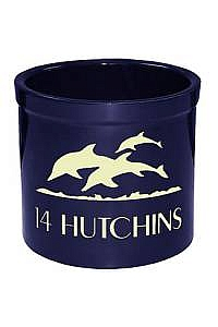 Leaping Dolphins Personalized Crock
