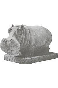 Hippo Statue or Water Fountain, lg