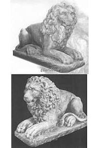 Sitting Lion, Cast Stone Concrete Statue