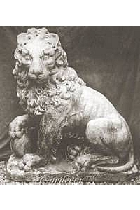Lion with Ball Statue