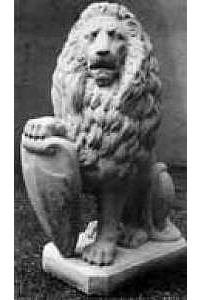 Lion with Shield Statue