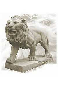 Standing Lion Statue