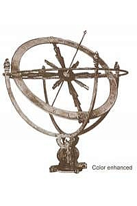 Circle Trunnion Sundial Armillary - Bronze