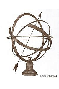 Hemispherical Sundial - Bronze