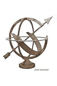 French Armillary Sundial - Bronze