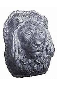 Estate Lion Head Wall Water Fountain Plaque - Lead Metal