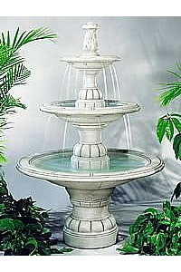 Large Contemporary Tiered Outdoor Water Fountain