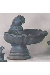 Large One-Tier Shell Fountain with Water Pitcher