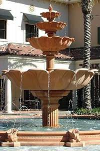 Lotus 4-Tiered Outdoor Water Fountain
