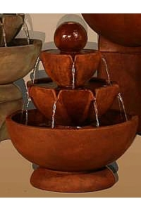 Low Stone Vessels Water Fountain