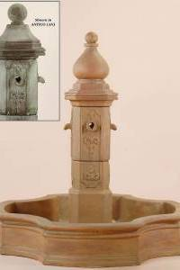 Monaco Pond Outdoor Concrete Water Fountain
