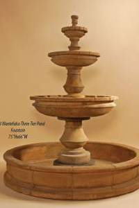 Montefalco Three-Tiered Pond Fountain