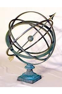 30'' Garden Armillary with Fluted Base