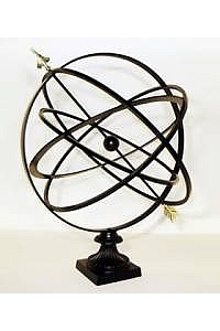 36'' Garden Armillary with Fluted Base