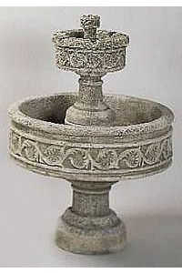 Paestum 2-Tier Outdoor Concrete Water Fountain