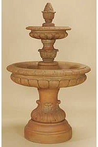 Rosea 2-Tier Water Fountain for Outdoors