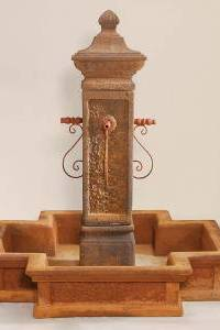 San Martino Water Fountain with Pond For Rustic Spouts