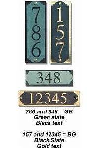 Vertical and Horizontal 1-Line Address Slate Wall Marker