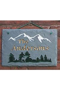 Mountain Moose Personalized Plaque, slate