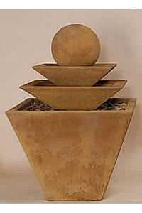 3-Tiered Tapered Square Water Fountain