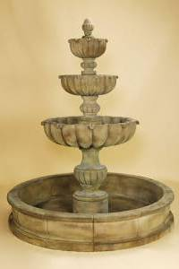 Tall Urbino Grande 3-Tier Pond Water Fountain