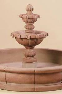 Versailles Garden 2-Tier Water Fountain in Pool